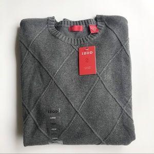 Izod Luxury Sport Crew Neck Long Sleeve Sweater